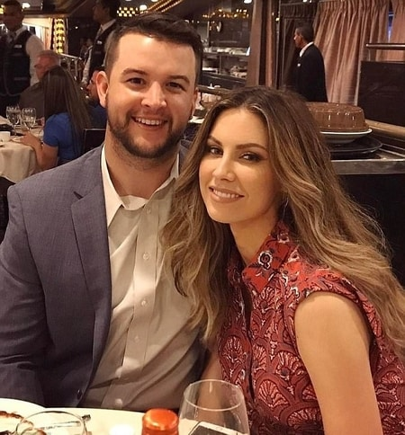 Katherine Webb and AJ McCarron having a lovely dinner