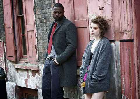 Amie-Ffion Edwards with her co-star in between the shoot