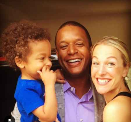 Craig Melvin with his wife Lindsay Czarniak and child