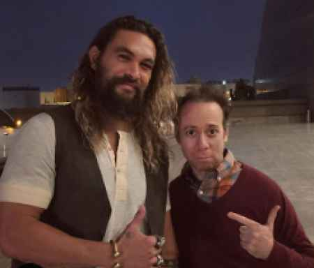 Kevin Sussman with Jason Mamoa