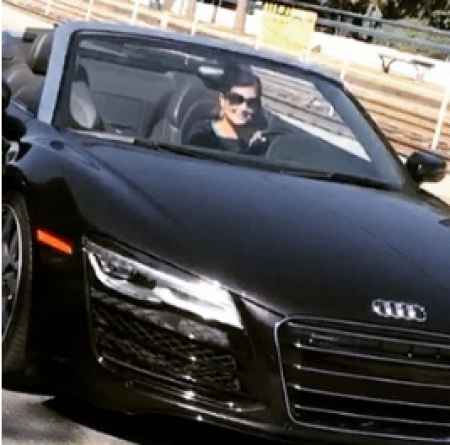 Laura Garcia with her Audi