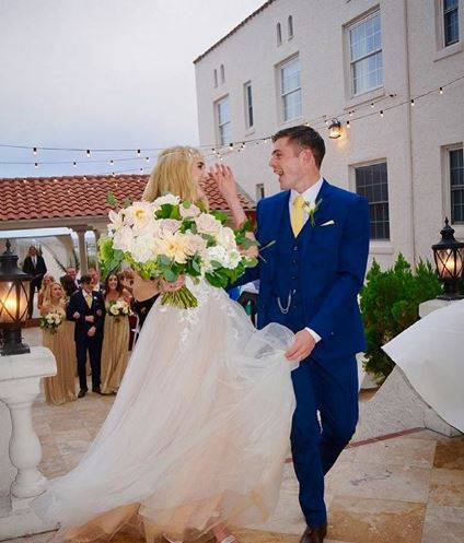 Spencer Locke and Chris Mason at their wedding day
