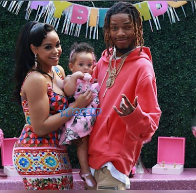 Zaviera with her mother and father Fetty Wap