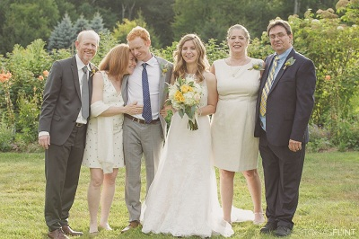 Reed and Ashley on their wedding along with their respective families. Know about Reed's personal life, affair, marriage, spouse, divorce