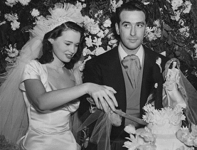 Gloria with her first husband Pat DiCicco