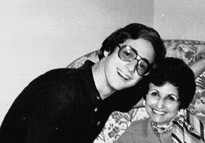 Bob and his english teacher Elaine Zimmerman who pushed him into acting career