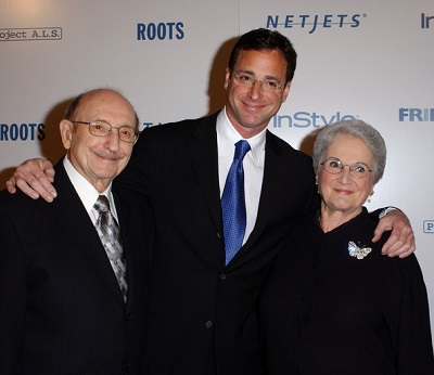 Bob with his father and mother