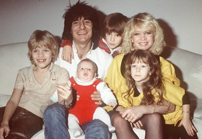 Jo Wood with her husband and children. Know about Jo Wood's personal life, marriage, husband, children, nuptial, wedding date and venue and other marital details