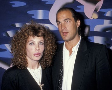 Kelly Lebrock with her second husband Steven Seagal. Know more about Kelly marriage, husband,wedding, and other marital details.