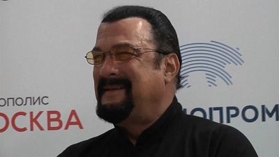 Steven Seagal during an event. Know about his career, profession, achievements