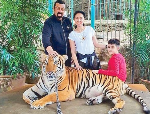 Kunzang Seagal with his parents for a Jungle Safari. Kunzang Seagal Bio, Wiki, Age, Height, Body Measurement, Girlfriend, Partner, Relationship, Net Worth & Assets