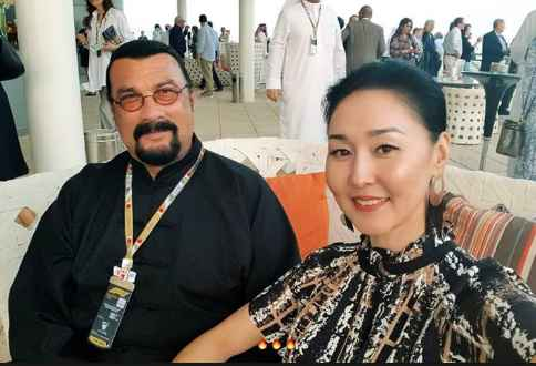 Kunzang Seagal's parents for an event. Kunzang Seagal Bio, Wiki, Age, Height, Body Measurement, Girlfriend, Partner, Relationship, Net Worth & Assets