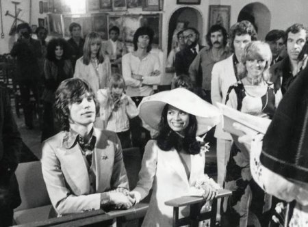 Mick and Bianca Jagger's wedding