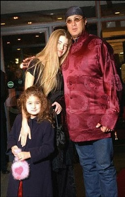 Seagal with his wife Arissa Wolf and daughter Savannah