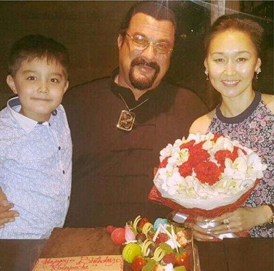 Steven along with his wife Elle and son Kunzang