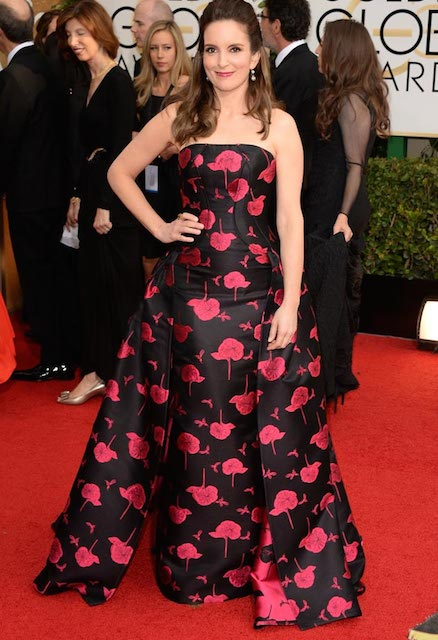 Tina Fey during Golden Globes in 2014