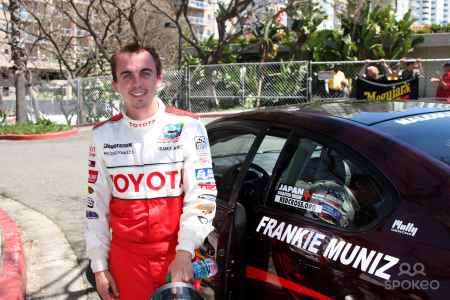 Frankie Muniz on a track for for race