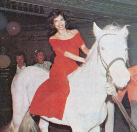 Bianca Jagger's image of riding the White Horse