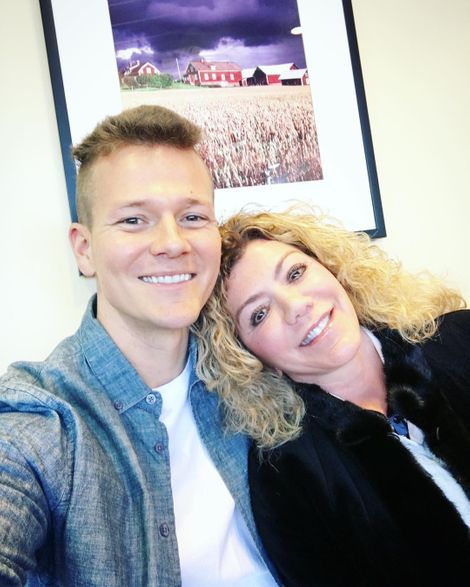 Tyler Ward with his mother