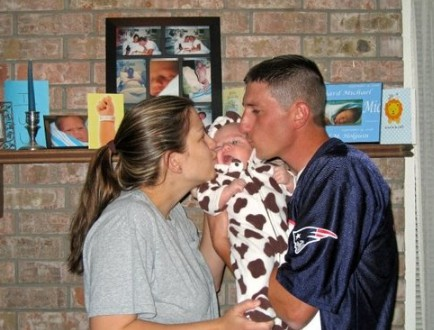 Image: Shaun Holguin with his former wife and child.