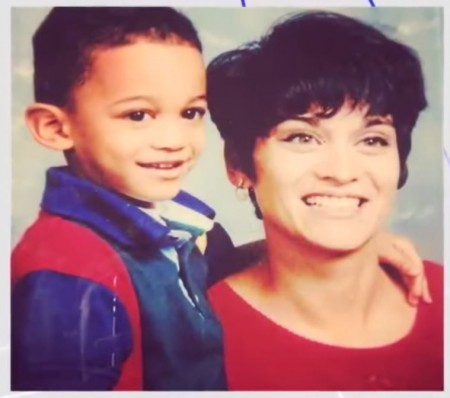 Jordan Clarkson with his mom during his childhood days