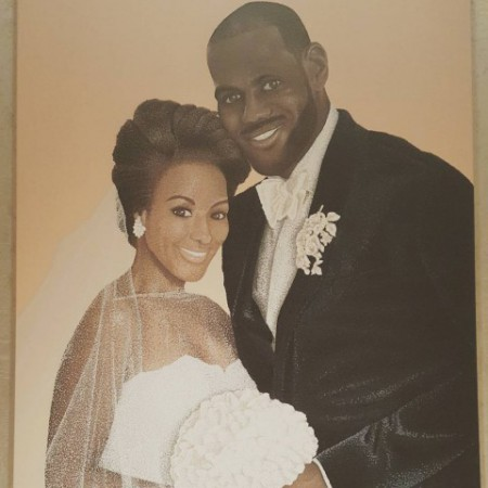 LeBron James and Savannah's wedding image