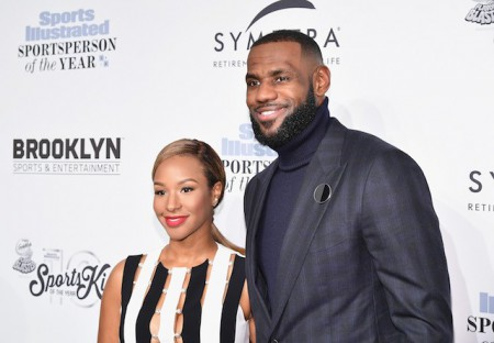 Husband wife duo LeBron James and Savannah Brinson James