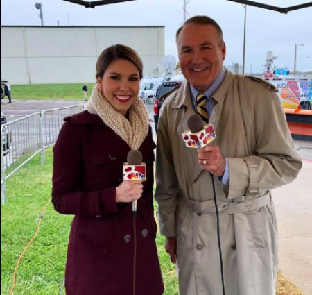 Emily with reporter Jim Riek. Know about her career, profession, net worth, salary, earnings, wedding, spouse and many more