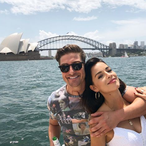 Daniel and Nadia outing near Lotus Temple Australia