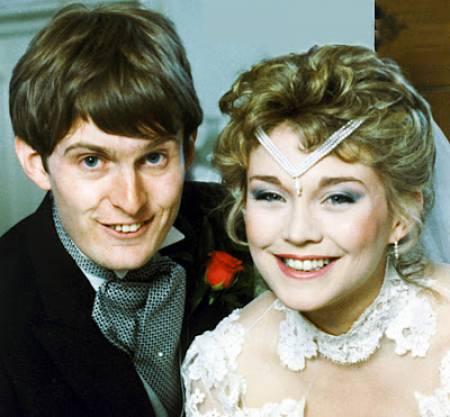 Robert Glenister and his first wife, Amanda Redman's wedding image