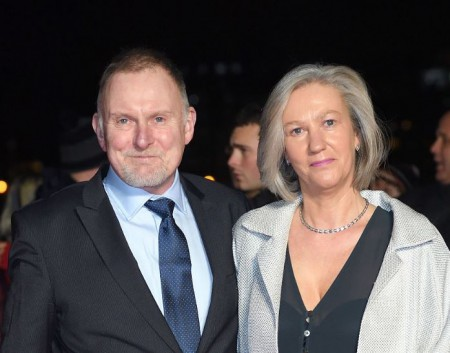 Robert Glenister with his second wife, Celia de Wolff