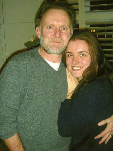 Robert Glenister with his daughter, Emily Glenister
