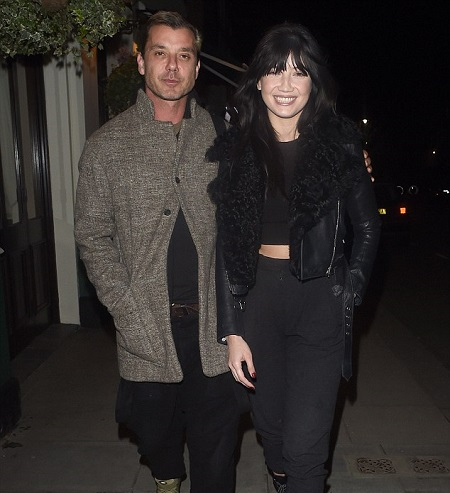 Gavin Rossdale with his former girlfriend, Pearl Lowe