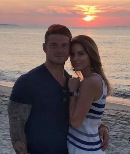 Ashley and her boyfriend Michael Counihan enjoying a sunset on a beach. Know more about her marriage, dating life, boyfriend, spouse, lovepartner and many more