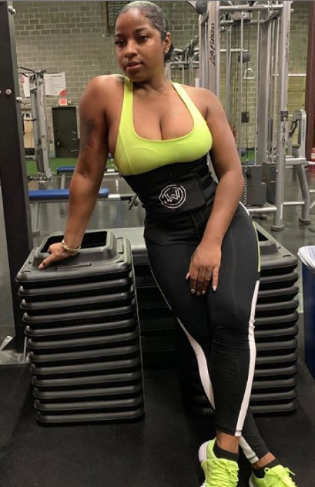 Antonia while on gym. Know about her career, daughter, Reign Ryan Rushing, total wealth, salary,income and many more