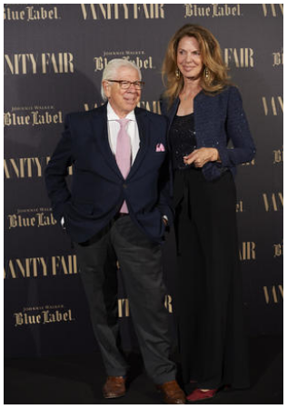 Carl and his wife Christine at the Vanity Fair award