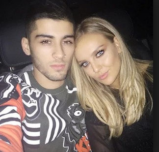Zayn Malik and his fromer girlfriend Perrie Edwards.