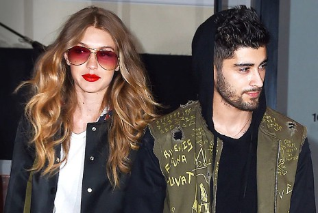 Zayn and his former supermodel girlfriend Gigi Hadid.