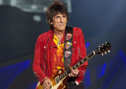 Ronnie Wood in the stage.