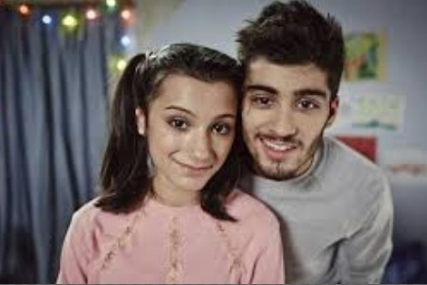 Zayn Malik and his sister in the song story of my life.