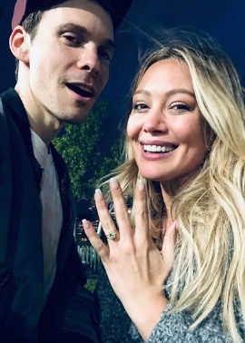 Hilary Duff showing off her engagement ring. personal life, relationship, baby, daughter, love