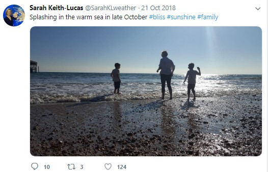 Sarah Keith-Lucas picture with her family via Twitter. children, kids, family, partner, lover