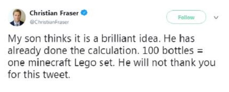 Christian Fraser gushes about his son via a tweet on 28 March 2018