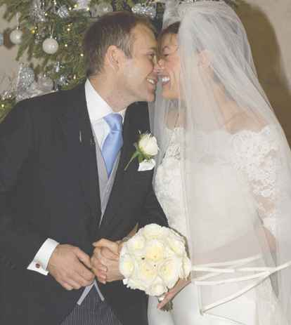 Kate Silver with her husband during her wedding. husband, partner, lover
