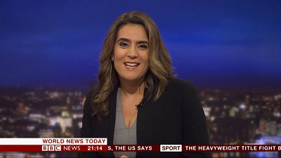 Simmonds presenting news for BBC World News. Know about her career, profession and more