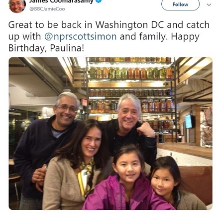 James Coomarasamy posted a picture via Twitter back on 2 Nov 2014 with his family.Know more about Jame's married,children,wedding, details in this article.
