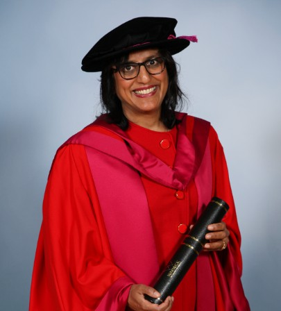 Ritula Shah during her graduation. career, professional life