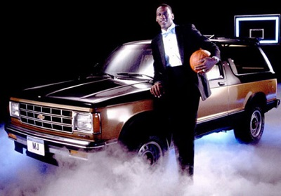 Jordan advertising for Chevrolete