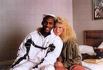 Michael Jordan and his girlfriend Karla