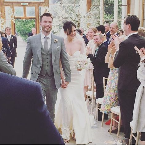 Emer Kenny and Rick Edwards walked down the wedding aisle on  28 May 2016